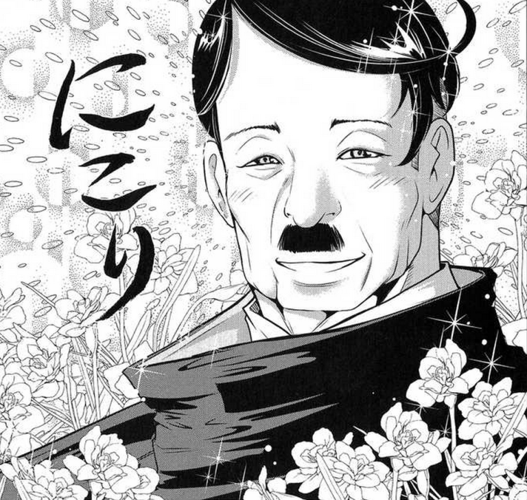 Sosok Pemimpin ideal di mata lurah Pak Mun (Courtesy to The Legend of Koizumi,http://onewdesign.files.wordpress.com/2011/01/the-legend-of-koizumi-23-adolf-hitler.png?w=768)