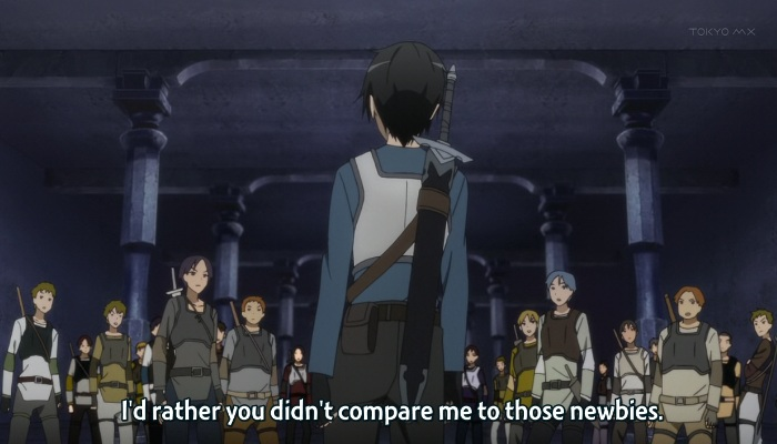 A picture of how Kirito is a bitch.