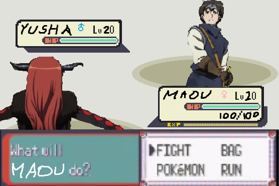 What will MAOU do? [FIGHT, POKéMON, BAG, RUN]